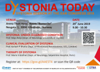 29 June 2019 | Dystonia Today – special session at the EAN Congress 2019