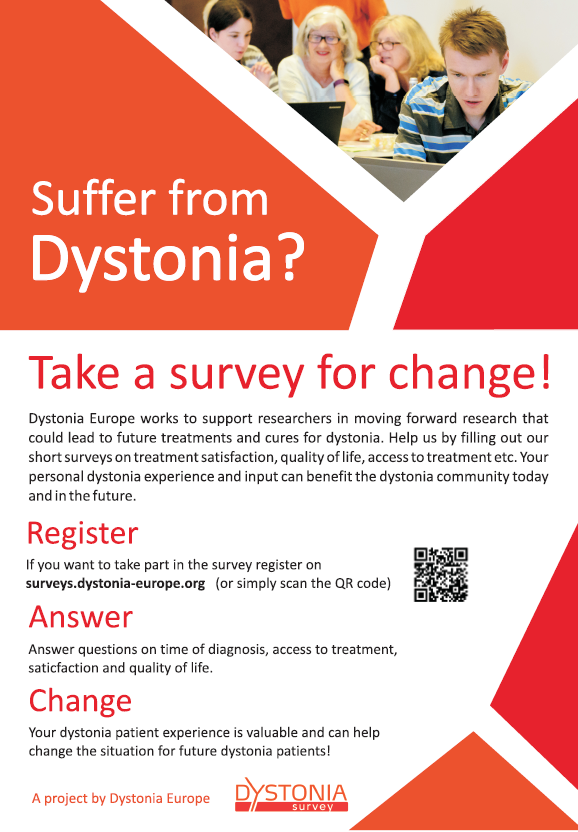 Dystonia Europe survey – please participate
