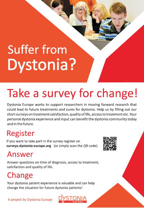Dystonia Europe survey – please participate