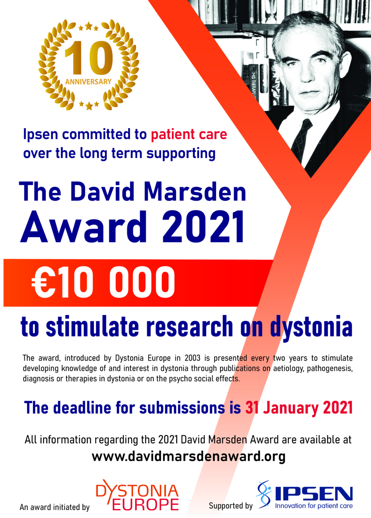 David Marsden Award 2021 – open call for submission