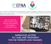 3 December 2020 | Round table: providing better access to care and treatment for HD & RND patients