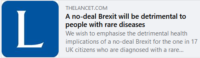 No deal Brexit could have detrimental impact for four million people in UK living with a rare disease
