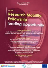 FUNDING – EJP RD / ERN Research Mobility Fellowship call open