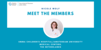 New interview available – meet Nicole Wolf from Emma Children's Hospital/Amsterdam University Medical Centers, the Netherlands