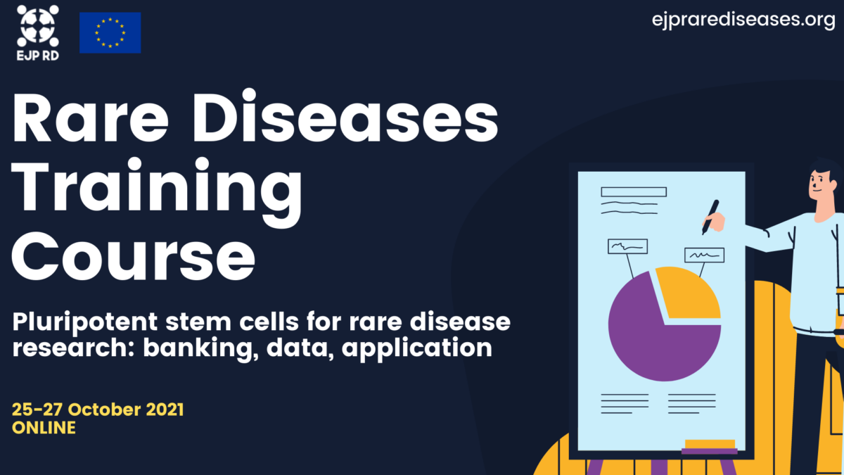 """New EJP RD training: """"Pluripotent stem cells for rare disease research: banking, data, application"""""""